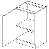 Skříňka dolní EKRAN WENGE š.50cm D 50 - levá