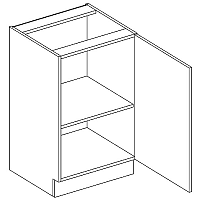 Skříňka dolní EKRAN WENGE š.50cm D 50 - pravá