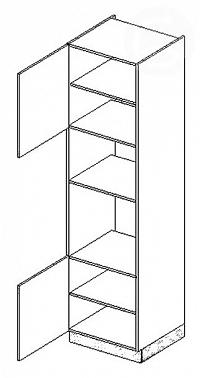 Skříňka dolní na troubu a mikrovlnku EKRAN WENGE š.60cm DKM s60 - levá