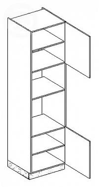 Skříňka dolní na troubu a mikrovlnku EKRAN WENGE š.60cm DKM s60 - pravá