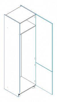 Skříňka dolní na vestavnou lednici LAURA D60 LO/2333 pravá