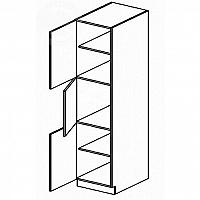 Skříňka dolní potravinová EKRAN WENGE š.60cm DG 60 - levá