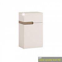 Skříňka dolní pravé provedení v luxusní bílé barvě ve vysokém lesku TK026 TYP 156