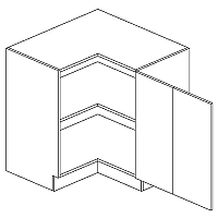 Skříňka dolní rohová EKRAN WENGE 80x80cm DRP - pravá