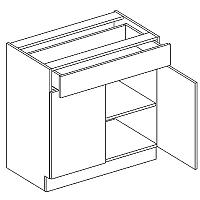 Skříňka dolní se zásuvkou JUSTÝNA lak D80 S/1