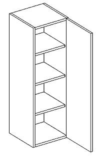 Skříňka horní 30cm v.92cm LAURA W30/92 pravá