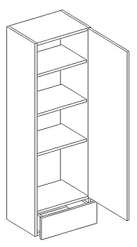 Skříňka horní 40cm v. 128cm LAURA W40W plná pravá