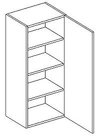 Skříňka horní 40cm v.92cm LAURA W40/92 pravá