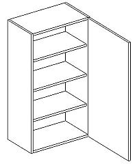 Skříňka horní 50cm v.92cm LAURA W50/92 pravá