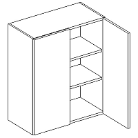 Skříňka horní 60cm v.72cm LAURA W60