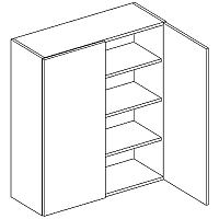 Skříňka horní 80cm v.92cm LAURA W80/92