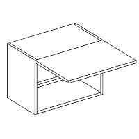 Skříňka horní digestořová EKRAN WENGE š.50cm WO 50 v 35
