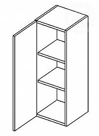 Skříňka horní EKRAN WENGE š.40cm W 40-120 - levá