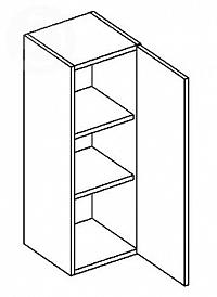 Skříňka horní EKRAN WENGE š.40cm W 40-120 - pravá