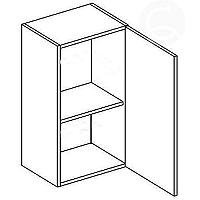 Skříňka horní EKRAN WENGE š.50cm W 50 - pravá