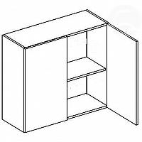 Skříňka horní EKRAN WENGE š.80cm W 80