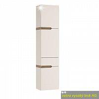 Skříňka pravé provedení v luxusní bílé barvě ve vysokém lesku  TK026 TYP 155