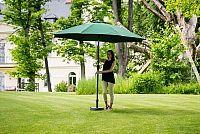 Slunečník hliníkový zahradní zelený 350 cm