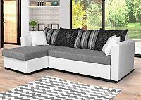 Univerzální sedací souprava v kombinaci bílé a šedé barvy s polštáři F1281