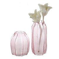 Váza skleněná Organic, 25 cm, růžová