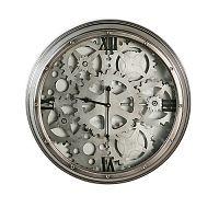 Velké nástěnné kovové hodiny 60 cm DO201