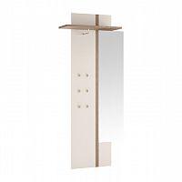 Věšákový panel se zrcadlem jednodveřová v luxusní bílé barvě ve vysokém lesku  TK026 TYP 115