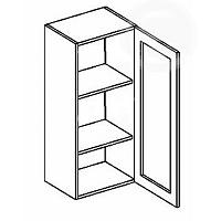 Vitrína horní EKRAN WENGE š.40cm W 40w 120 - pravá SZ čiré sklo