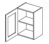 Vitrína horní EKRAN WENGE š.40cm W 40w - levá SM mražené sklo