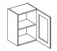 Vitrína horní EKRAN WENGE š.40cm W 40w - pravá SZ čiré sklo