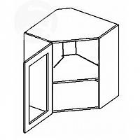 Vitrína horní rohová EKRAN WENGE 60x60cm WR 60w SM - levá mražené sklo