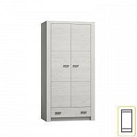 Vysoká šatní skříň z bílého jasanu s výraznou reliéfní kresbou typ 01 TK210