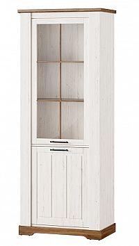 Vysoká vitrína v dekoru borovice andersen typ 10 KN1233