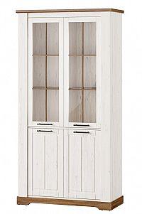 Vysoká vitrína v dekoru borovice andersen typ 12 KN1233
