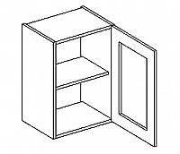 W40WP h. vitrína 1-dvéřová PREMIUM de LUX olše čiré sklo