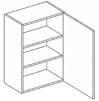 W45 horní skříňka pravá bílý mat KN394