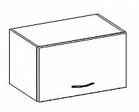 W60OK  horní skříňka nad digestoř v šedém lesku KN414