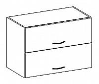 W60OKPP horní skříňka výklopná v šedém lesku KN414