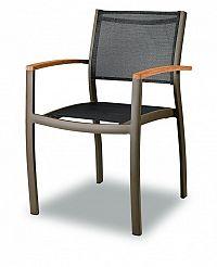 Zahradní hliníková židle C88012 hnědočerná