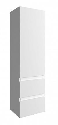 Závěsná koupelnová skříňka v bílé barvě ve vysokém lesku 140 cm F1243