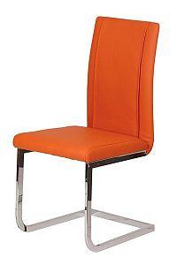 Židle chromová čalouněná oranžováZ402
