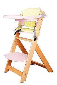 Židle dětská rostoucí přírodní barva růžová