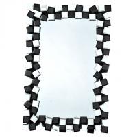 Zrcadlo, černá / bílá, ELISON TYP 8