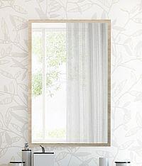 Zrcadlo na stěnu 85x55 cm s rámem v dekoru dub sonoma KN879