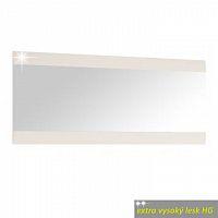 Zrcadlo velké v luxusní bílé barvě ve vysokém lesku TK026 TYP 121