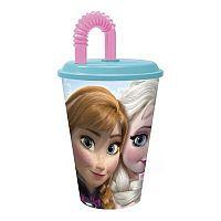 Disney cestovní pohárek s brčkem LEDOVÉ KRÁLOVSTVÍ, 430 ml