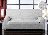 Forbyt, Potah elastický na sedací soupravu, Andrea, bílo-černá   křeslo - š. 60 - 110 cm