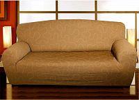 Forbyt  Potah na pohovku, Lazos, tmavě béžový dvojkřeslo - š. 120 - 160 cm