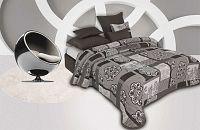 Forbyt, Přehoz na postel, Eternity, šedá 240 x 260 cm + 2 ks 40 x 40 cm