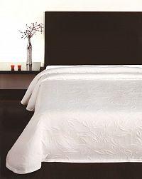 Forbyt, Přehoz na postel, Floral bílý 240 x 260 cm