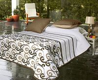 Forbyt, Přehoz na postel, KATE, hnědý 240 x 260 cm